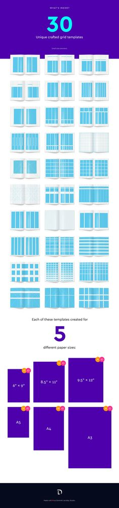 Gridtastic Grid Kit by Dominik Levitsky Studio on Book Design Layout, Print Layout, Page Layout, Layouts, Picture Letters, Picture Albums, Diy Projects With Books, Grid Design, Graphic Design