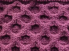 Aran honeycomb stitch. This site explains how to do this. It looks more complicated then it really is. :D I love when that happens!