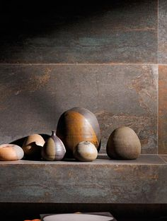 View our beautiful floor and wall tiles range. Downstairs Toilet, Corten Steel, Fireplace Wall, Tile Patterns, Natural Materials, Wall Tiles, Pottery, Splashback, Flooring
