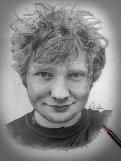 Pencil drawing of Ed Sheeran #pencil #sketch #drawing #edsheeran