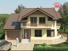 PROIECTE CASE. Proiecte case noi pe anul 2020 Slideshow « » Casa Mondeo Plus House Outside Design, Bungalow Floor Plans, Kerala Houses, Dream House Plans, Exterior House Colors, Design Case, Home Fashion, Modern House Design, My House
