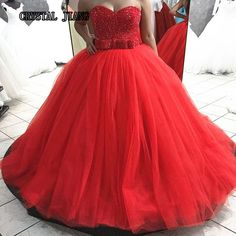 Stunning Crystal Sequins Beaded Ball Gown Sweep Train Sweetheart Sleeveless Long Prom Dress Arab Customized