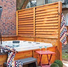 Privacy fence for hot tub Privacy fence for hot tub