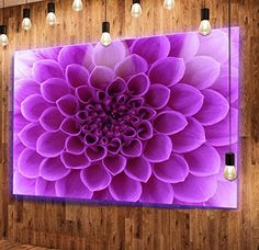 Designart MT12647-48-40-LED Light Abstract Flower Petals Extra Large Modern Floral LED Glossy Metal Wall Art LED Backlit, 48 x 40, Purple    Decorate your walls with more than just murals and paintings, consider metal flower wall art.  In addition to being beautiful floral wall art gives a room a soft vibe