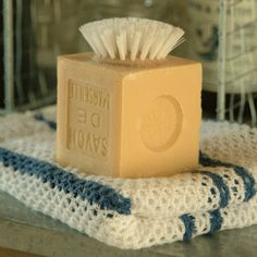 Soap with brush