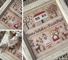 Snow+White+and+Rose+Red++A+Grimm's+Fairytale+by+LittleStitcherShop,+$12.30