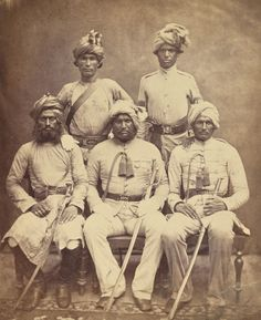 Group of Survived Indian Native Military Officers after Indian Mutiny of 1857