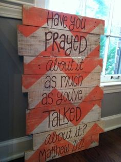 Good to think about. Pallet Art Bible Verse chevron Matthew by HollysHobbiesTN on Etsy Prayer Wall, Prayer Room, Prayer Corner, Prayer Closet, Pallet Art, Pallet Signs, Pallet Painting, Pallet Ideas, God Is Good