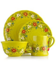 Fitz and Floyd Ricamo Green | Tablescapes | Pinterest | Green dinnerware Dinnerware and Dishes  sc 1 st  Pinterest & Fitz and Floyd Ricamo Green | Tablescapes | Pinterest | Green ...