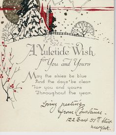 #Christmas #greeting #1927 #retro