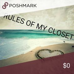 Important Rules!! ✔ I only sell on Poshmark ✔✔✔ All of my items are already at their lowest prices! 🚫 No trades! 🚫 No low-ball offers!!! 🚫 Please do not ask to take off a listing and sell it elsewhere. I am not putting myself in harms way of being scammed for someone's convenience. 🚫 I don't like to talk about prices in the comments. Please make an offer (using the offer button) and I will counter with my lowest.  Thank you for your cooperation! Happy Poshing! Other