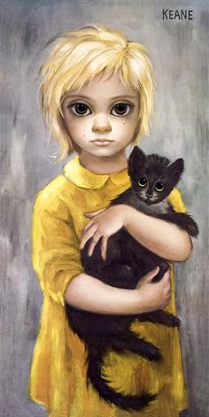 Margaret-Keane-Stray-Lithograph Lithograph on Paper, Originally Printed in Japan in the Year Sold in like-new condition (the actual print you will receive is years old). Margaret Keane Artwork, Big Eyes Margaret Keane, Keane Big Eyes, Margareth Keane, Big Eyes Movie, Big Eyes Paintings, Big Eyes Artist, Sad Eyes, Eye Art