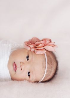 Baby picture: cute head bow!