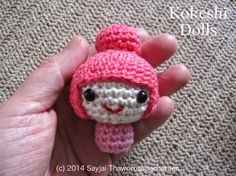 Sayjai amigurumi crochet patterns ~ K and J Dolls / K and J Publishing: Amigurumi Kokeshi Dolls - free crochet pattern