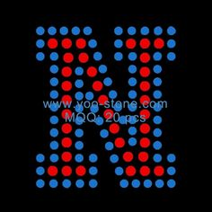 Custom 1.8 Inches Height Rhinestone English AlphabetN, Hot Sale Iron-On Rhinestone Alphabet