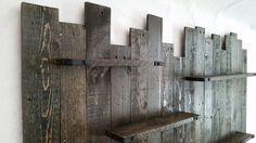 Reclamado el estante de madera de la pared decoración de la