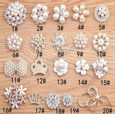Cheap buttons clear, Buy Quality rhinestone pearl buttons directly from China pearl buttons Suppliers: HOT SALE Handmade Metal Rhinestone Pearl Button Clear Artificial Alloy Crystal Flatback Wedding Buttons Bead Jewellery, Hair Jewelry, Beaded Jewelry, Bead Embroidery Patterns, Beaded Embroidery, Motifs Perler, Flower Center, Diy Bow, Diy Hair Accessories