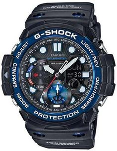 Casio G-Shock Gulfmaster Twin Sensor - Tide Function - Black with Blue Accents