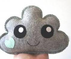 Cute grey fluffy cloud