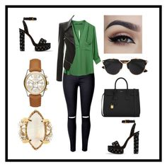 """""""Katherine #49"""" by sejlathemonster on Polyvore featuring Alaïa, WithChic, Yves Saint Laurent, Tessa Metcalfe, Michael Kors and Christian Dior"""
