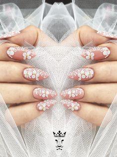 Βridal nails  #nails💅 #nailart #bridalnails #romanticnails #3dplastelineflowers #nailsoftheday #nails2inspire #nailaholic #nailaddict #nothingisordinary #nailartist #marinaveniou #nailartseminars #trustthexperts #beautymakesmehappy   www.kalliopeveniou.gr