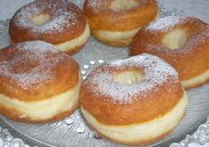 Szalagos fánkjaim - Hiszed.Com Bagel, Doughnut, Donuts, Churros, Food And Drink, Cooking Recipes, Bread, Brioche, Hungarian Recipes