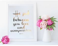 Real Gold Foil Print He put between you love and by MoonOrchids