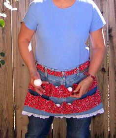 Egg Gathering Blue Jean Apron One Size by SusiesTieOneOnAprons