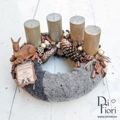 Christmas wreath, table decoration / Adventi koszorú - Karácsony 2015 - Di Fiori