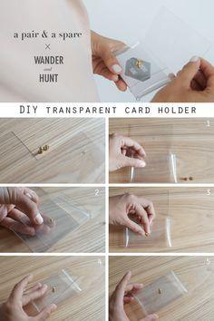 DIY Transparent Card Holder   A Pair & A Spare for Wander & Hunt