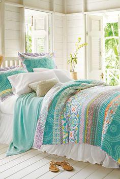 Positano Bedding Collection Sofa Layout, Home Bedroom, Girls Bedroom, Bedroom Decor, Bedroom Ideas, Summer Bedroom, Beach Bedding, Luxury Bedding, Coastal Bedding