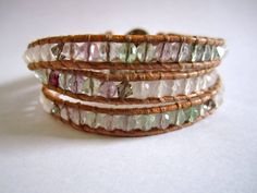 fluorite, white jade, and Swarovski crystals