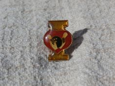 I Love Bowling, Vintage Metal Pin Back Lapel Pin http://etsy.me/2Caa3tA #jewelry #brooch #pin #teamwwes #cute #athletic #sport #sports #bowling #forsale #bowl #vintagepin #vintageforsale #forsale #shopsmall #shopping #sports #leaguenight #etsysellsvintage #etsyforsale