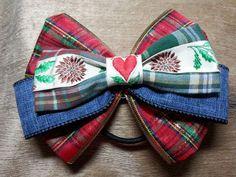 ribbon bow ponytail holder 110L