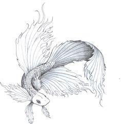Free Beta Fish Tattoo Designs | Fighting Fish By Chakra San Designs Interfaces Tattoo Design Design ...