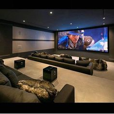 Impressive Basement home theater – So you are considering transforming your basement right into a home theater? Cellars are a perfect area for a home theater as the room has some natural benefits over others in your home. - Home Decor Home Theater Room Design, Movie Theater Rooms, Home Cinema Room, Home Theater Seating, Movie Rooms, Movie Theater Basement, Home Theatre, Luxury Movie Theater, Tv Rooms