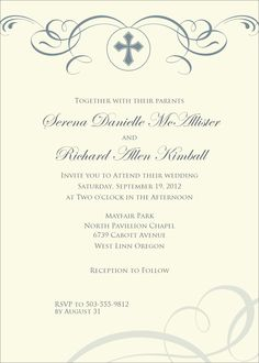 Flat Oversized Invitation - Keeping the Faith