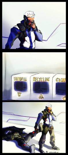 recycling. Reaper is just chilling over there isnt he?
