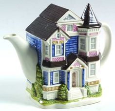 I have a soft spot for teapots shaped like houses.
