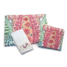 Dena Designs Peacock Printed Fingertip Hand Towel