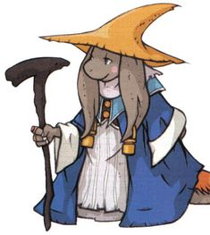 View an image titled 'Nu Mou Black Mage Art' in our Final Fantasy Tactics Advance art gallery featuring official character designs, concept art, and promo pictures. Final Fantasy Characters, Final Fantasy Art, Final Fantasy Tactics Advance, Character Art, Character Design, Black Mage, Geek Games, Cartoon Styles, Art Reference