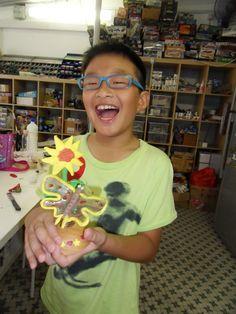 Selan Sun Flower Project 3 http://gariesim.blogspot.sg/2014/04/all-creative-learning-for-children.html