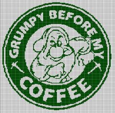 GRUMPY COFFEE CROCHET AFGHAN PATTERN GRAPH
