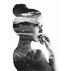 en profil girl + lanscape