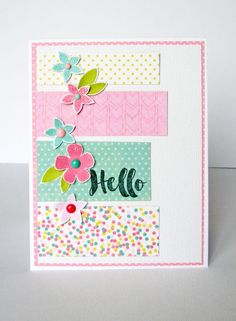 Hello Card by Nicole Nowosad featuring Jillibean Soup Healthy Hello