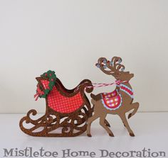 Sizzix paper sleigh with reindeers