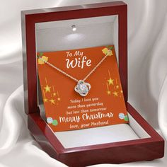 To My Wife Merry Christmas Necklace Gift