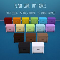 Deelitefulsimmer: Plain Jane toy boxes • Sims 4 Downloads