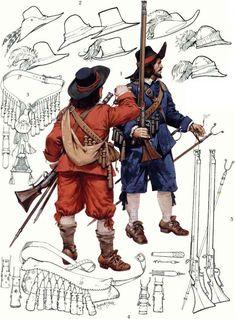 Angus McBride - Mosqueteros, Guerra Civil Inglesa.