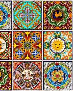 "eQuilter Fiesta - Mexican Sun Tile Work - Multi - 24"" x 44"" PANEL"